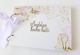 Papiernictvo - svadobná kniha hostí - 9465651_