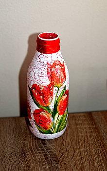 Dekorácie - Váza s tulipánmi - 9466138_