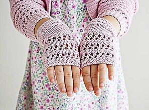 Detské doplnky - Detské pletené nátepníčky - 9467215_