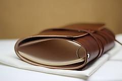 Papiernictvo - Kožený karisblok BROWN A5 - 9467326_