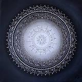 Obrazy - KVET ŠŤASTIA BIELY (silver) 40 x 40 - 9466701_