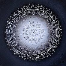 Obrazy - KVET ŠŤASTIA BIELY (silver) 40 x 40 - 9466704_