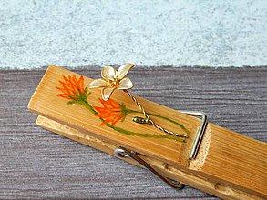 Darčeky pre svadobčanov - rozkvitnutý - dekoratívny štipec - 9466912_