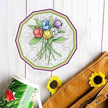 Pomôcky - Podšálka kvetová (s krajkou 4) - 9466921_