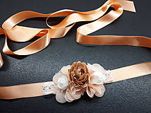 Opasky - Kvetinkový opasok - 9468937_