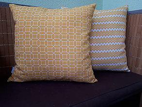 Úžitkový textil - Obliečky na vankuš (Obliečky s abstraktným vzorom/žlté) - 9469559_