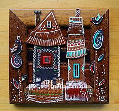 Obrazy - Ľudové domčeky 1 - 9470054_