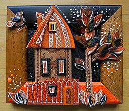 Obrazy - Ľudový domček 3 - 9470091_