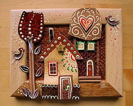 Obrazy - Ľudové domčeky 5 - 9470119_