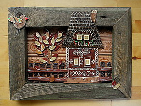 Obrazy - Ľudový domček - Folk - 9470126_