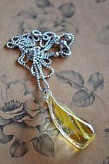 Náhrdelníky - Náhrdelník Žlté lupene (2413 A CHO) - 9469251_