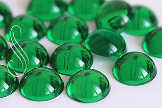 Komponenty - Kabošon pologuľa zelená 15 mm/2ks - 9470165_
