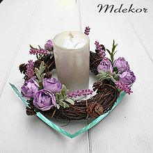 Dekorácie - Romantické fialové venčeky sada 2 ks - 9469774_