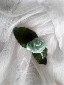 Dekorácie - štipec ruža (Ružová) - 9395014_