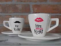 Sada espresso šálok - Mr. and Mrs. Right