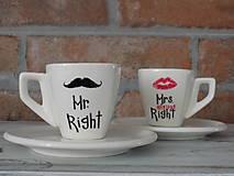 Nádoby - Šálky na ristretto - Mr. and Mrs. Right - 9468950_