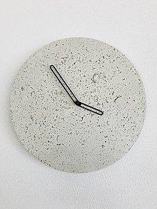 Hodiny - Betónové hodiny - PURE 30 white verzia (1) - 9469682_