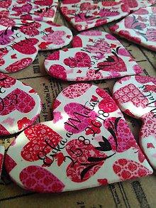 Darčeky pre svadobčanov - svadobné magnetky so srdiečkami - 9470337_