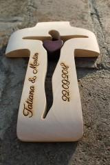 Dekorácie - Drevený krížik + gravír - 9469622_