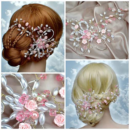 Originální spona do vlasů růžová   kultdesign - SAShE.sk - Handmade ... d7c350b7ef