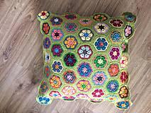 Úžitkový textil - Háčkovaný vankúš - 9469057_