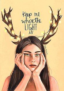 Kresby - Keep Me Where The Light Is - ORIGINÁL  - 9469826_