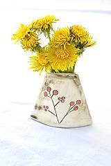 Dekorácie - Malá keramická vázička - 9468094_