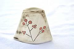 Dekorácie - Malá keramická vázička - 9468096_