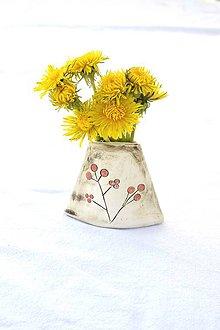 Dekorácie - Malá keramická vázička - 9468095_
