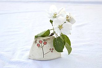 Dekorácie - Mini keramická vázička - 9468109_