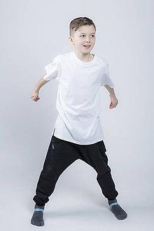 Tričká - Oversize tričko s rozparkami - 9468516_