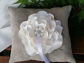 Prstene - Svadobný vankúšik - 9470143_