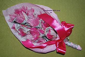 Darčeky pre svadobčanov - Kytica zo žrebov I - podlhovastá - 9468956_