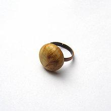 Prstene - Špaltovaný javorový vypuklý - 9468373_