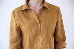 Košele - Simonka ľanová košeľa biela - 9473524_