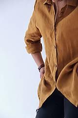 Košele - Simonka ľanová košeľa biela - 9473528_