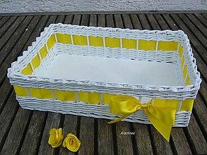 Dekorácie - Svadobný košíček 30x22x9 cm - 9471147_