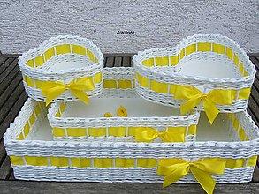Dekorácie - Svadobné košíčky - väčšie sady - 9471185_