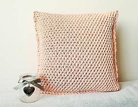 Úžitkový textil - Vankúš svetloružový - 9472891_