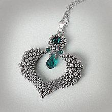 Náhrdelníky - náhrdelník EMERALD HEART - 9472955_