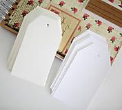 Papiernictvo - Biele alebo krémové menovky - 9473248_