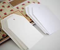 Papiernictvo - Biele alebo krémové menovky - 9473249_