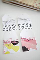 Papiernictvo - Scrapbook visačky (sada) - 9473296_