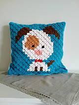 Úžitkový textil - Vankúšik so psíkom - 9472297_