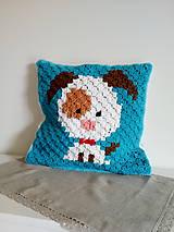 Úžitkový textil - Vankúšik so psíkom - 9472298_