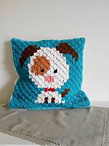 Úžitkový textil - Vankúšik so psíkom - 9472299_