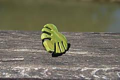 Prstene - Prsteň lístok zelený - botanical jewelry - 9473268_