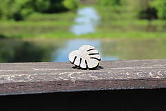 Prstene - Prsteň lístok šedý patina - botanical jewelry - 9473315_