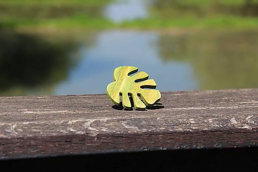 Prsteň lístok zelený - botanical jewelry