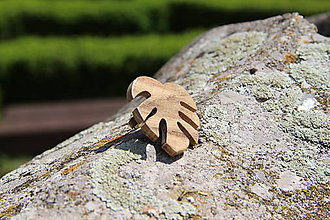 Prstene - Prsteň lístok natur - botanical jewelry - 9473300_